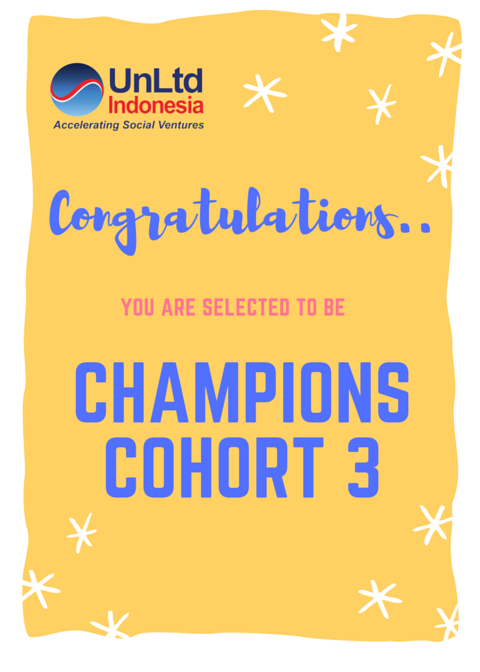 Welcome Champions Cohort 3